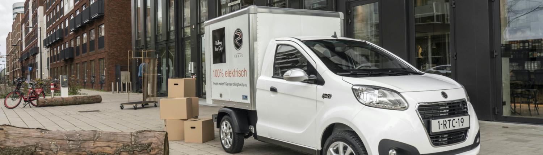 Regis Epic0 Van elektrische bedrijfswagen op de Zuid-As