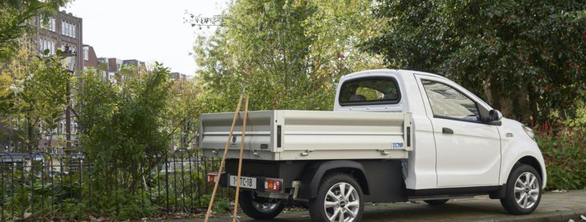 Regis Epic0 Pick-Up elektrische bestelwagen met open laadbak
